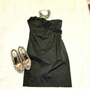 Maggy London Black Strapless Dress